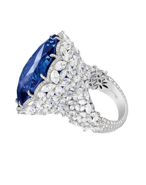 Chopard sapphire and diamond ring