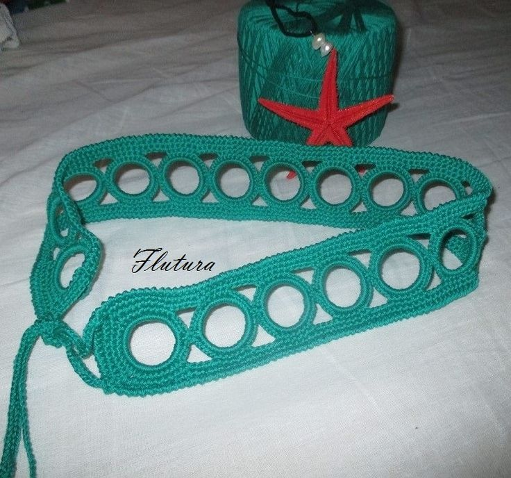 cintura creata con cerchietti plastica (la mia creazione)