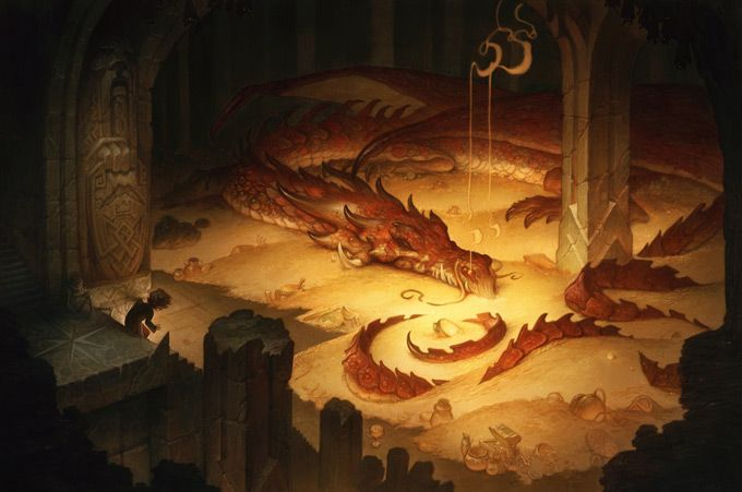 Justin Gerard: Justingerard, Smaug, Concept Art, The Hobbit, Illustration, Dragon, Justin Gerard, Middle Earth, Thehobbit