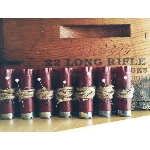 Shotgun Shell Boutonniere 12 gauge or 20 Gauge by AdelynElaines