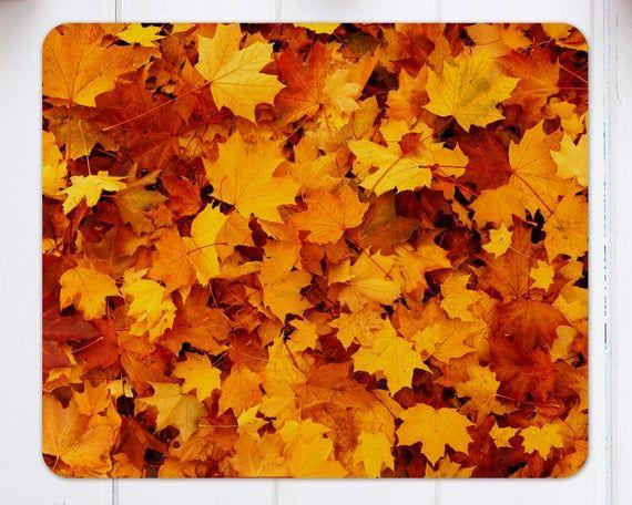 Herbstlaub-Mausunterlage – Halloween-Artikel – Halloween-Mausunterlage – Halloween-Geschenke – Innenministerium-Dekor
