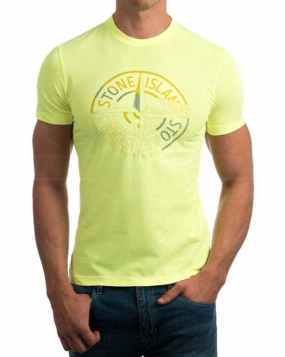 Camisetas Stone Island - Amarillo