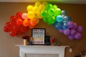 Cute rainbow party idea.