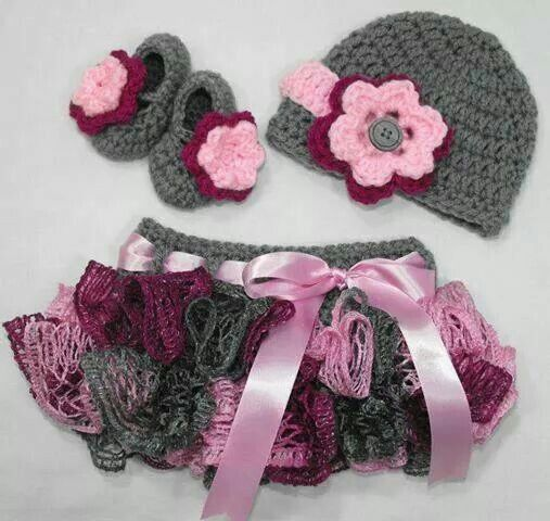 Baby girl crochet outfit