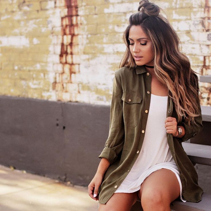 Olive too knot pose tshirt dress casual