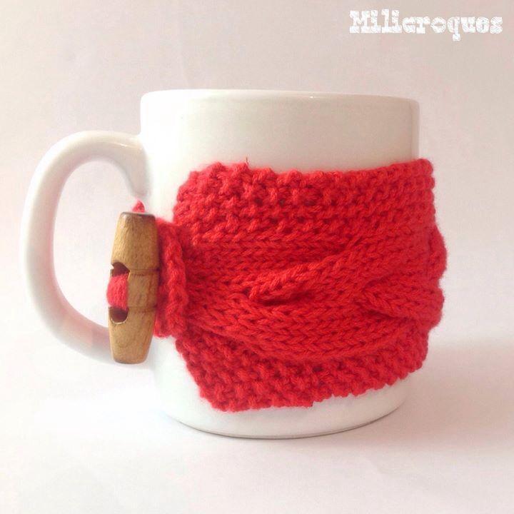 Cubre tazas crochet