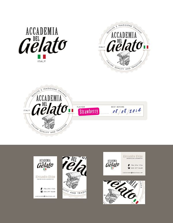 Branding & Packaging Design - Accademia del Gelato