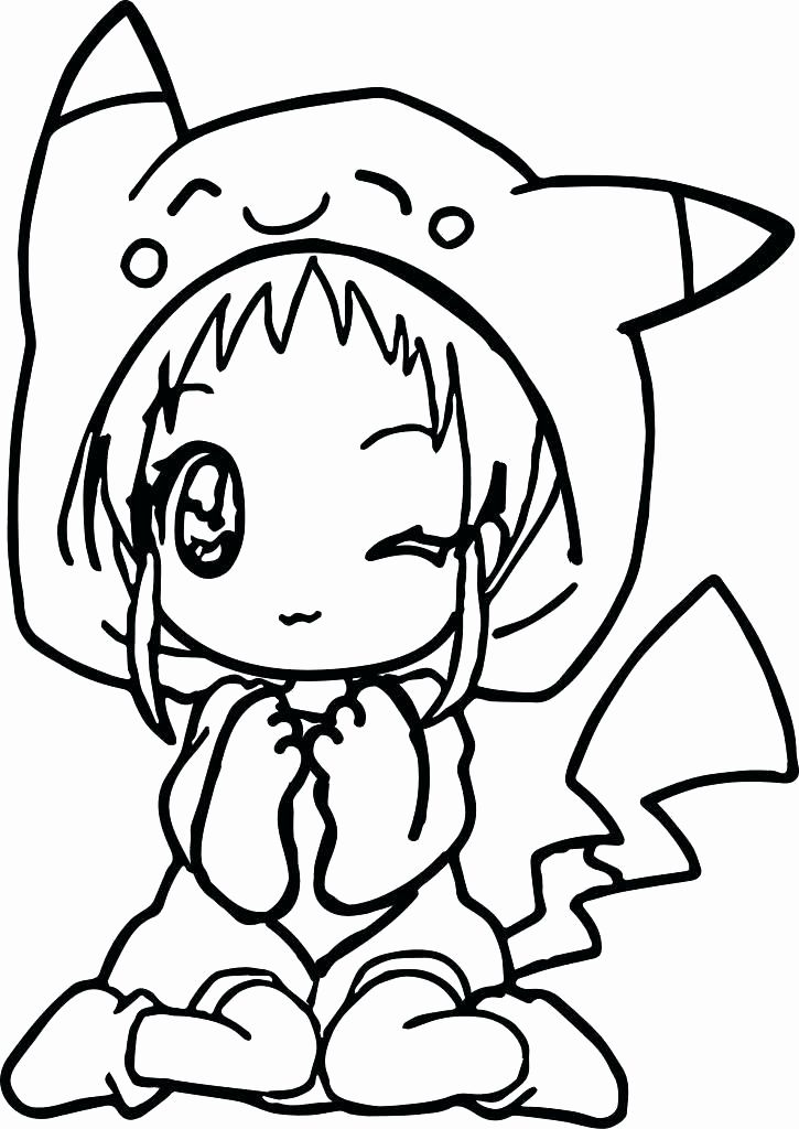 Easy Anime Coloring Pages Best Of Anime Coloring Pages Easy In 2020 Unicorn Coloring Pages Pikachu Coloring Page Cute Coloring Pages