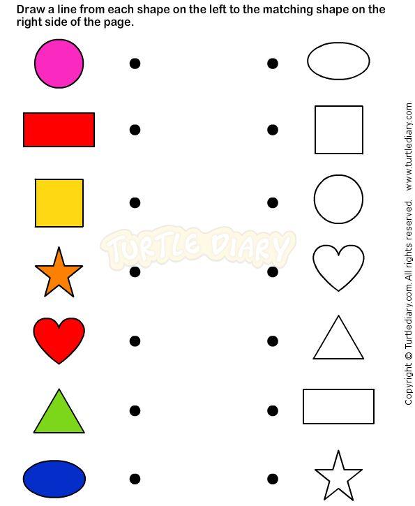 Shapes8 - math Worksheets - preschool Worksheets