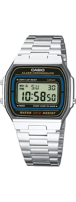 Casio watch. I have this in silver and this year's version in pink. Because I am fucking awesome, probably.