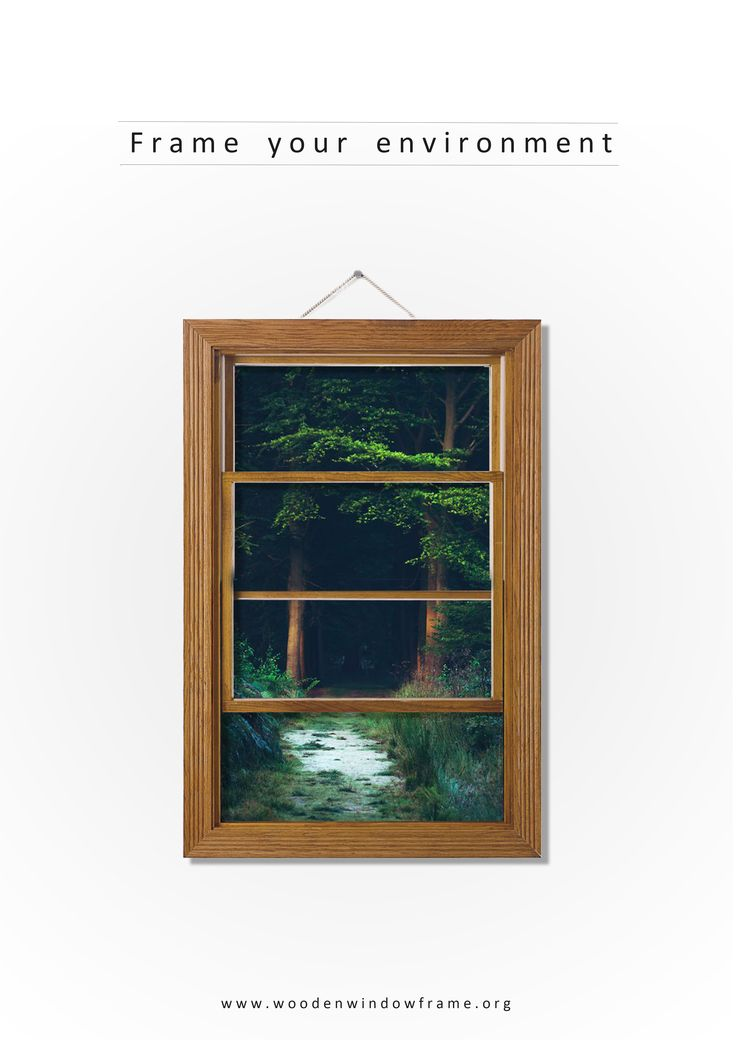Wooden window frame poster