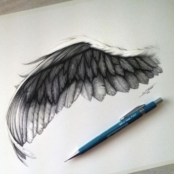 Black angel wing