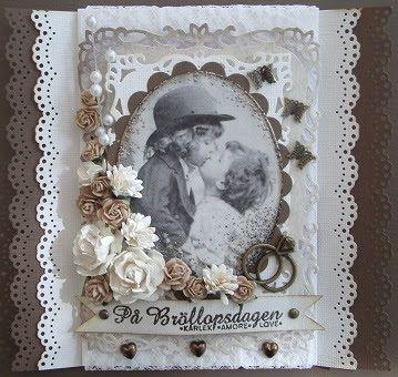 made by Annelie...: Bröllopskort