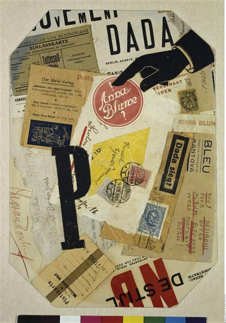 Raoul Hausmann, Collage, papiers collés, 1921, Allemagne, Hambourg, Kunsthalle.