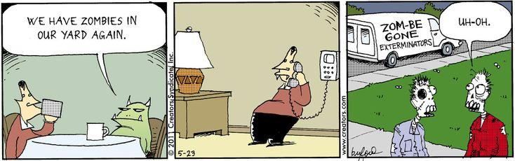 ❤ =^..^= ❤    Scary Gary Comic Strip, May 23, 2011 on GoComics.com