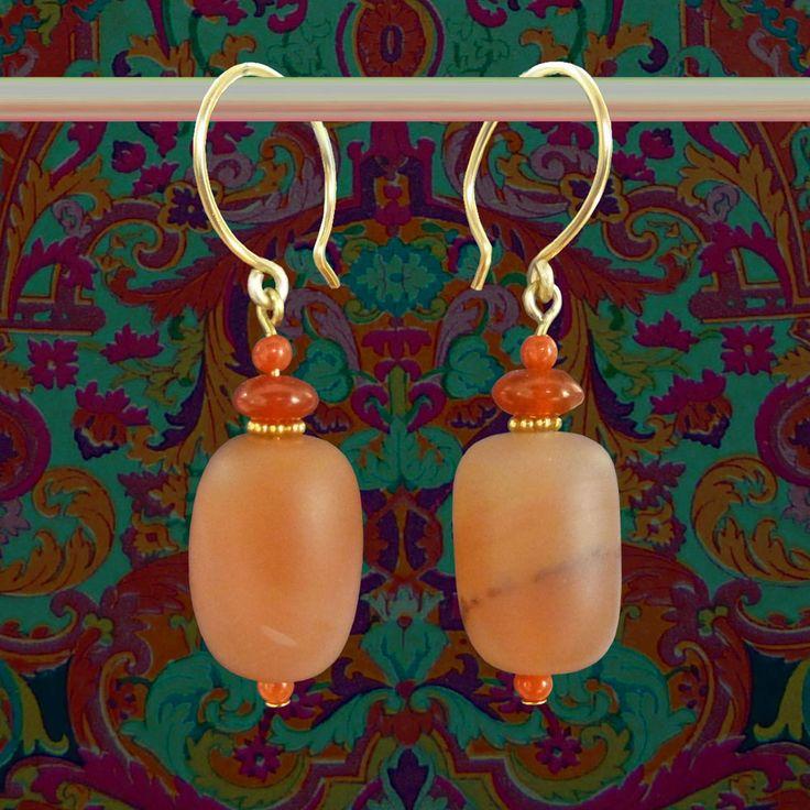 oorbellen van grote oranje agaten maand december