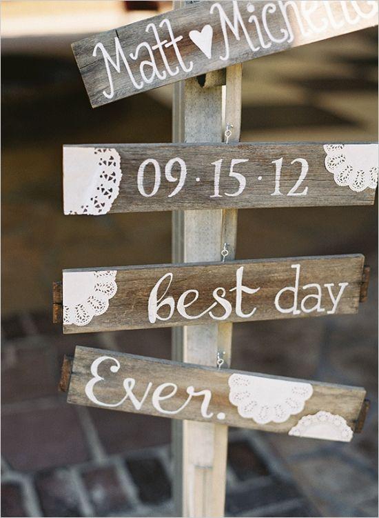 shabby chic wedding sign #diy #weddingsign #weddingchicks http://www.weddingchicks.com/2014/03/20/elegant-wedding-at-the-legare-house/