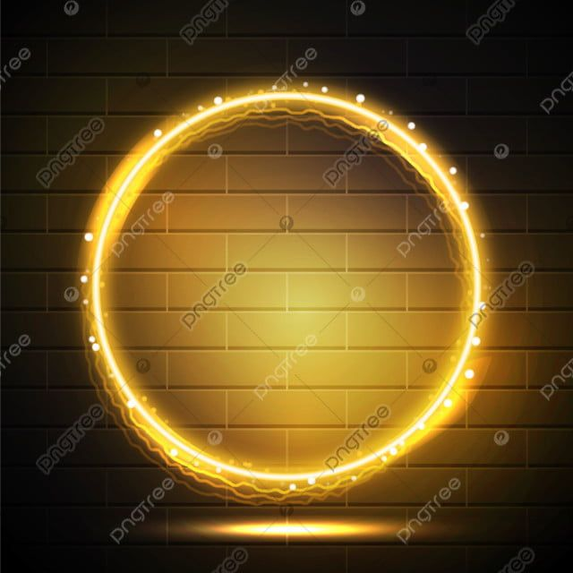 Futuristic Neon Electric Frame Yellow With Flare Light Effect Neon Border Light Png And Vector With Transparent Background For Free Download Light Flare Neon Optical Flares