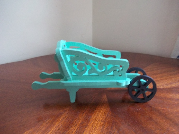 miniature scandinavian wheelbarrow