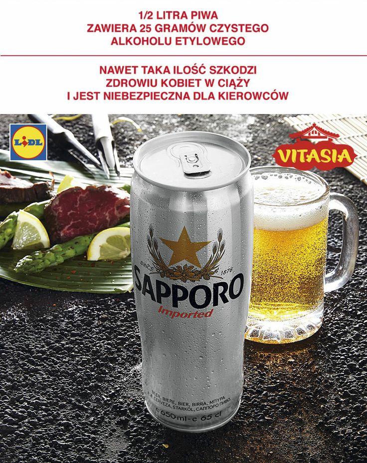 Piwo Sapporo #lidl #vitasia