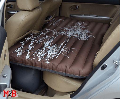 M2B095 Matelas gonflable de voiture marron motifs