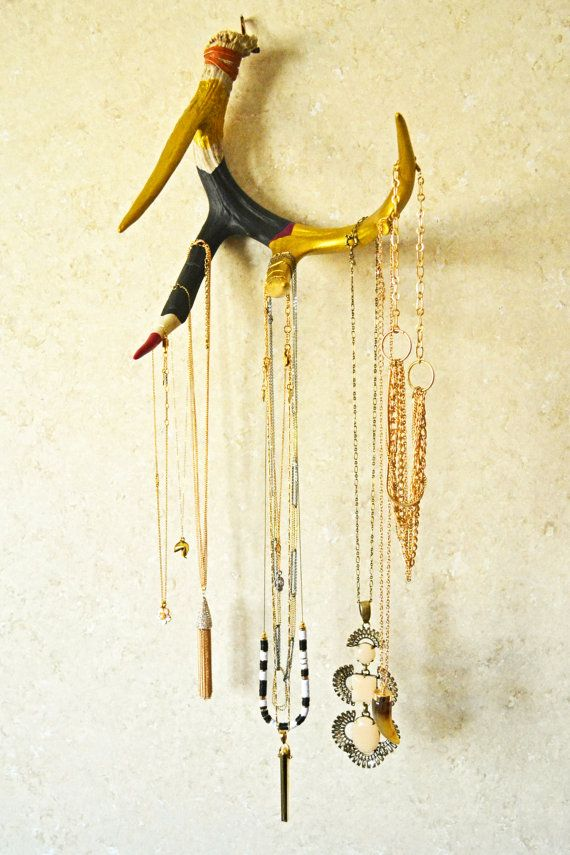 Jewelry Display  Antler Jewelry Holder  by TheWhitetailWidow, $82.00