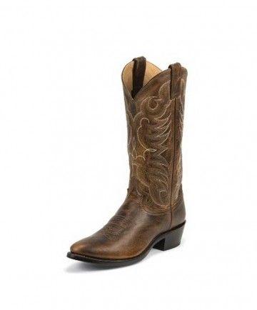 Justin Mens Tan Damiana - Western Boots - Footwear