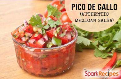 Pico de Gallo (Authentic Mexican Salsa) Recipe by METALFINGER2U via @SparkPeople