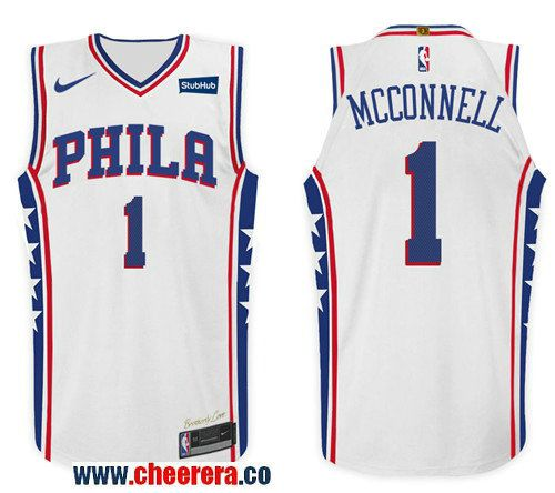 9670f05a29cd ... low cost mens nike nba philadelphia 76ers 1 t.j. mcconnell jersey 2017  18 new season wh