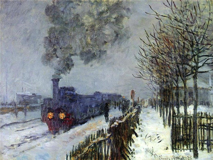Train in Snow by Claude Monet (Marmottan Monet Museum) - Impressionism