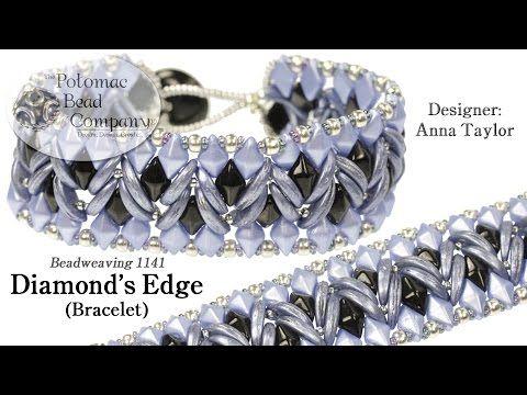 Designer Allie Buchman teaches you to make Potomac Bead Company's (Anna Taylor's) Diamonds Edge bracelet design.  This uses 2-hole DiamonDuo beads and 2-hole CzechMates Crescent beads.  All supplies from www.potomacbeads.com