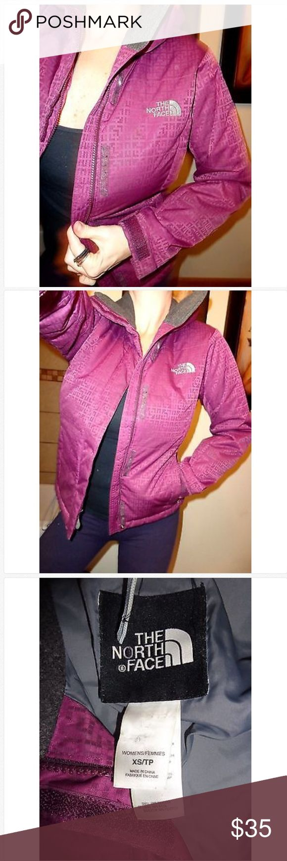 The North Face Long Sleeve Puffer Full Zip Jacket! Ladies The North Face Long Sleeve Puffer Maroon Full Zip Jacket! Size Ladies XS Good Used!! The North Face Jackets & Coats Puffers
