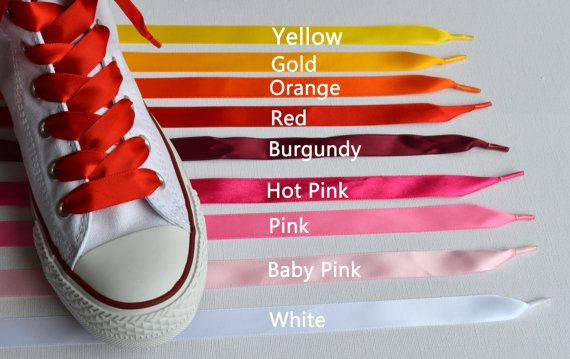 Satin Ribbon Shoe Laces for Converse TrainersBoots by BeressyArt