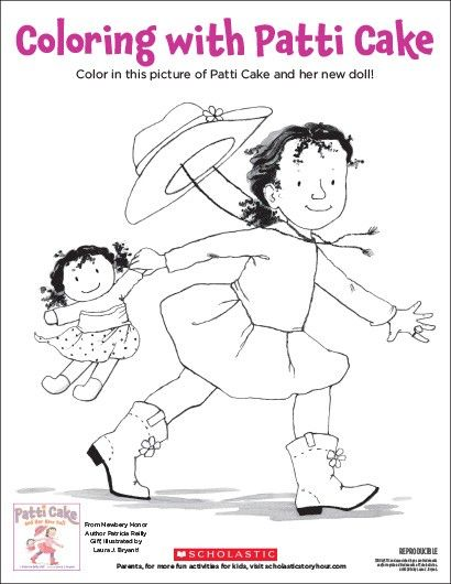"""Patti Cake and Her New Doll"" Coloring Sheet 