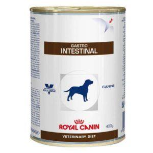 A Ração Royal Canin Lata Canine Veterinary Diet Gastro Intestinal Wet é um alimento coadjuvante indicado para cães, com o objetivo de auxiliar em casos de distúrbios gastro intestinais, tais como diarreias crônicas ou agudas, doença intestinal inflamatória, má digestão, má absorção, insuficiência pancreática exócrina, colite, gastrite, e em situações de anorexia e convalescença. Royal Canin: Um fabricante e fornecedor mundial d
