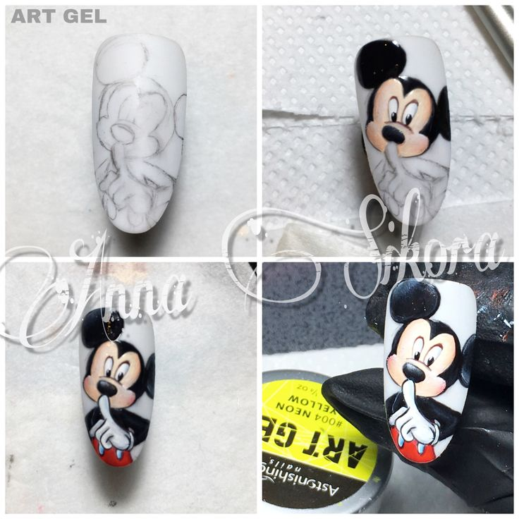 Step by step mickey mouse Disney