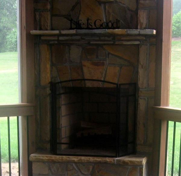 1000 images about fireplace ideas for our screened porch for Screened in porch fireplace ideas