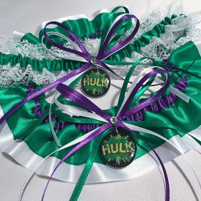 A Custom Hulk Wedding Garter Set For Bride Bianca