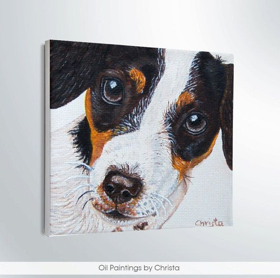 MINIATURE DOG  painting Oil painting puppy by OilpaintingsChrista