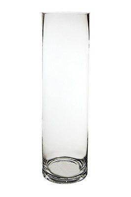 "Cylinder Vase, Glass Vases Wholesale. H-18"", Open Diameter - 5"" (Lot of 6 pcs)"