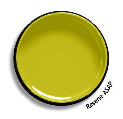 Resene ASAP is a stimulating bite of sour green gold, very dynamic. Try Resene ASAP with teal blues, blackened whites or blue blacks, such as Resene She'll Be Right, Resene Alabaster or Resene Nero. From the Resene The Range fashion colours 18. Latest trends available from www.resene.com/range18. Try a Resene testpot or view a physical sample at your Resene ColorShop or Reseller before making your final colour choice.