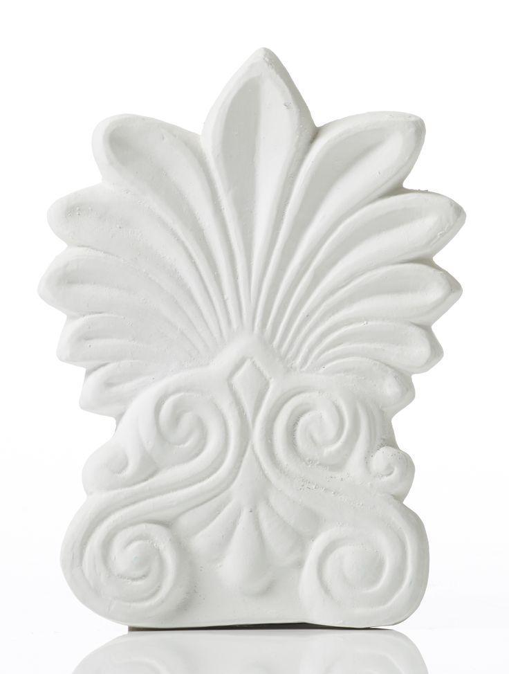 Akrokeramo Wall Small. Dimension: 17x17x2cm Material: Ceramine. Color: White.
