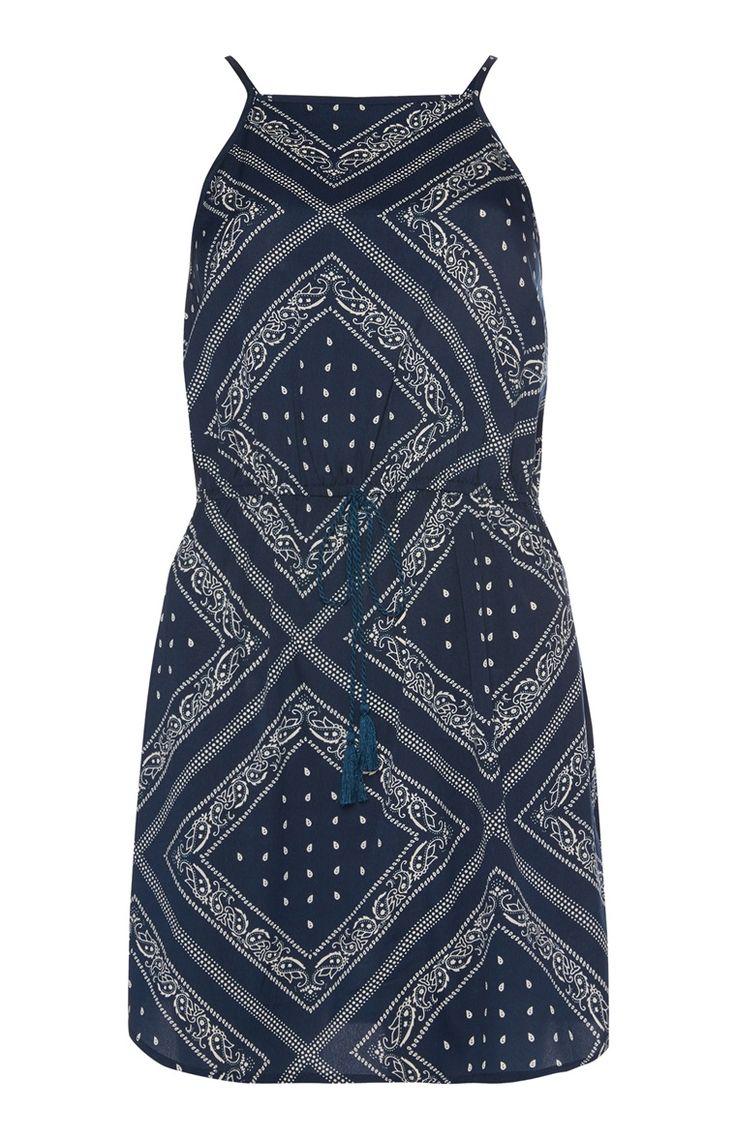 Primark - Blauw jurkje met bandanaprint