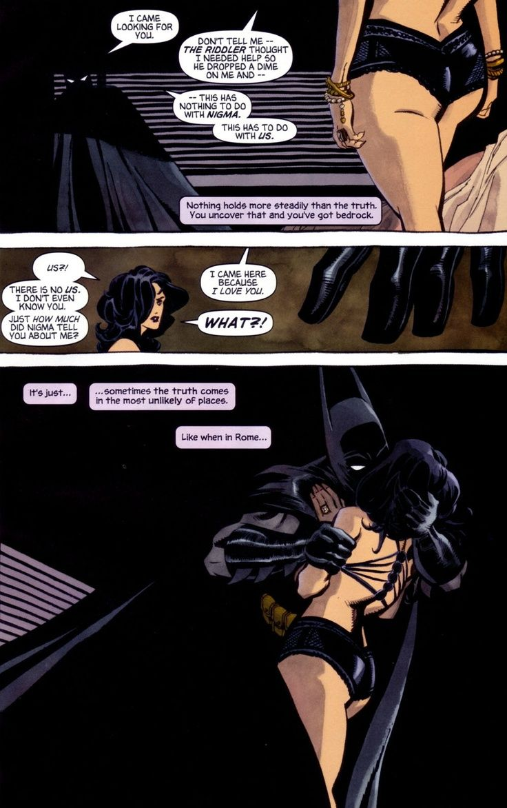 I Love Dc Comics : Batman says quot i love you to catwoman comic book art