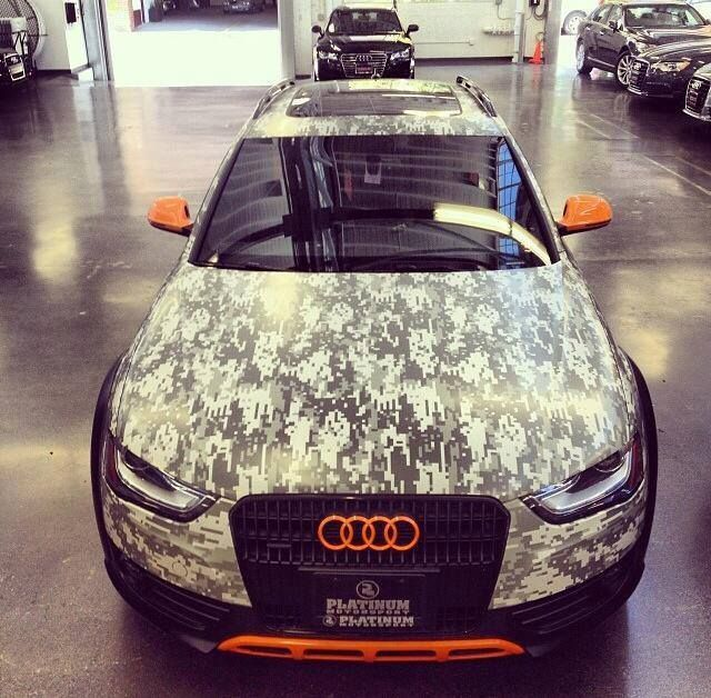 digital camo Audi Allroad