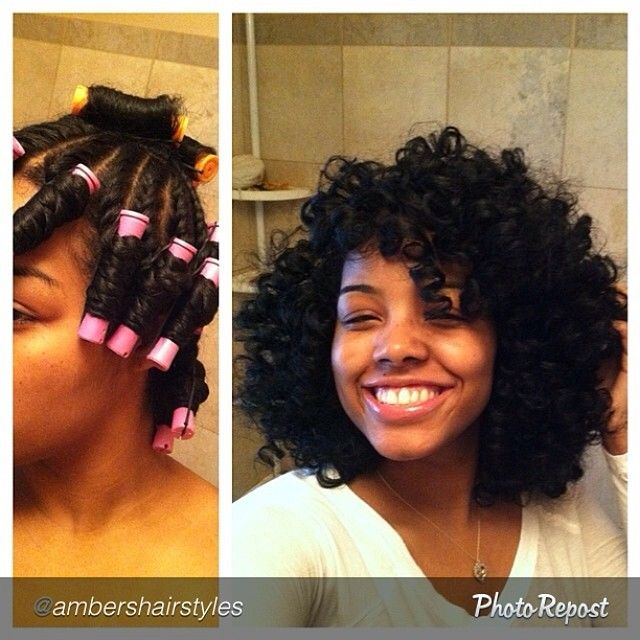 ".@healthy_hair_journey | by @ambershairstyles ""Hair by me on myself. #PermRods #Curls #BigcurlyFr... 
