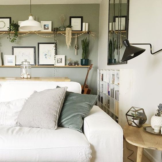 Modern Country Style Farrow And Ball Pigeon From The Most Gorgeous Rooms Myfabhome On
