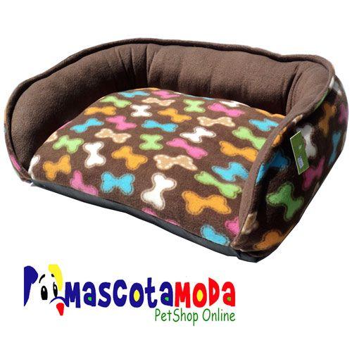 Sofa para perros medianos en tela polar