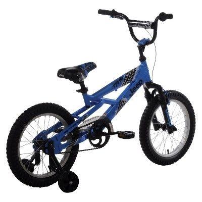 Kids Jeep TR16 - 16 Mountain Bike - Yellow/Black, Blue
