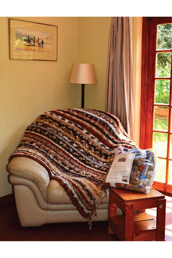 Autumn Lines blanket kit available from www.wooljunction.co.za